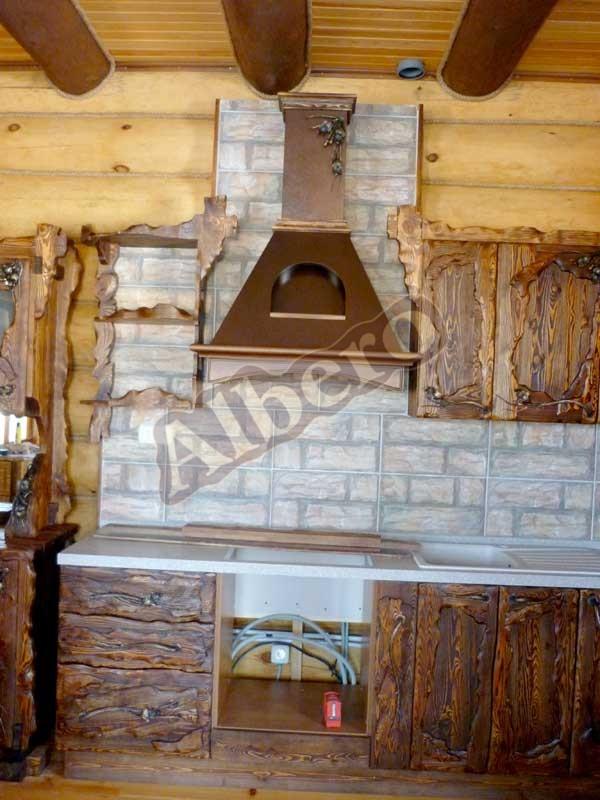 Кухня из массива дерева. Артикул: веб-00024