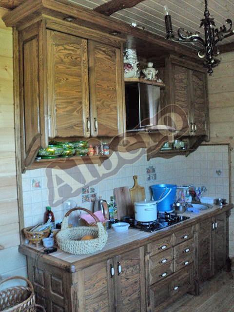 Кухонный гарнитур из массива дерева. Артикул: веб-00026
