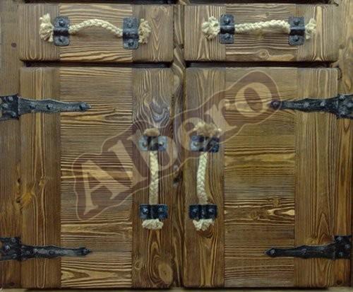 Фасады кухонного гарнитура из массива дерева. Артикул: веб-00027