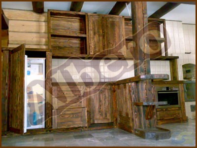 Кухонный гарнитур из массива дерева. Артикул: веб-00037
