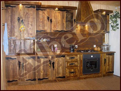 Кухонный гарнитур из массива дерева. Артикул: веб-00038