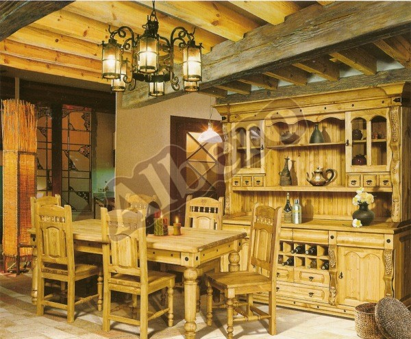 Кухонный гарнитур из массива дерева. Артикул: веб-00043