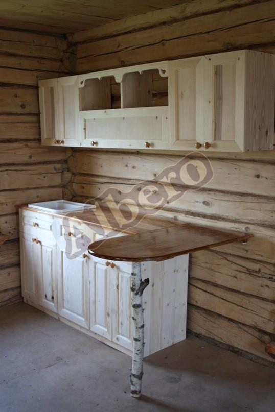 Кухонный гарнитур из массива дерева. Артикул: веб-00044