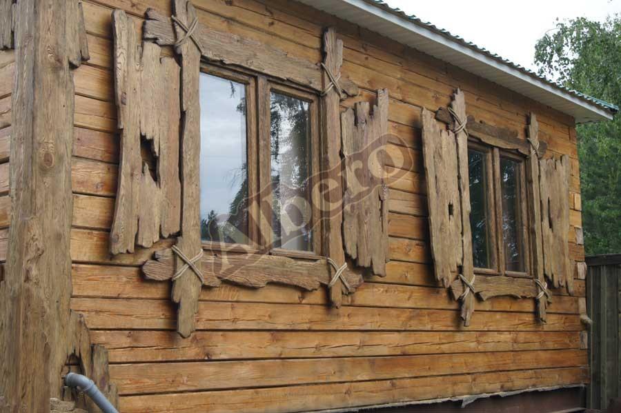 Наличники на окна из массива дерева. Артикул: веб-00046
