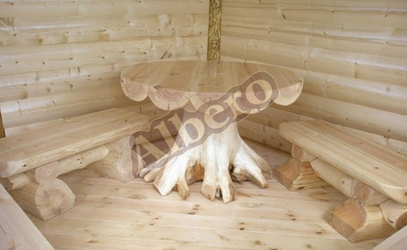 Эксклюзивный стол со скамейками из массива. Артикул: веб-00050