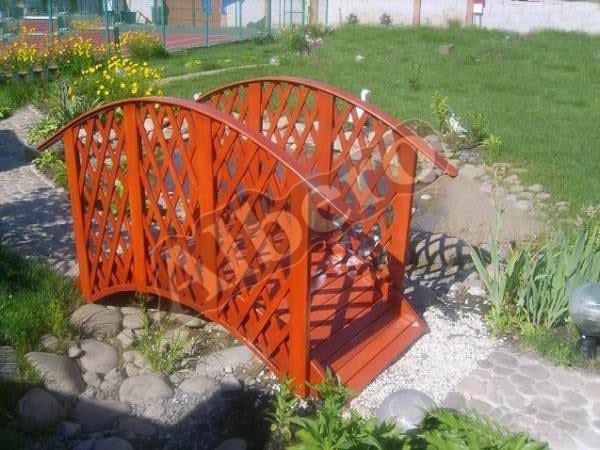 Мостик для садового пруда (ландшафтный дизайн). Артикул: веб-00055