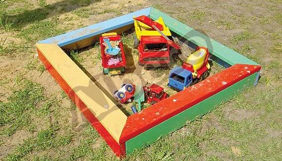 Детская уличная песочница. Артикул: веб-00057