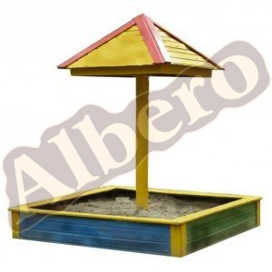 Детская уличная песочница с навесом-зонтиком. Артикул: веб-00061