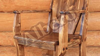 Стул с подлокотником для бани