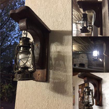 """Уличный светильник Бра """"Керосиновая лампа"""""""